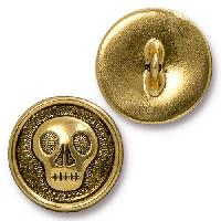 TierraCast Button Skully - Antique Gold