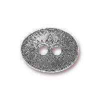 TierraCast Button Tribal - Silver Plated