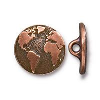 TierraCast Button Earth - Antique Copper