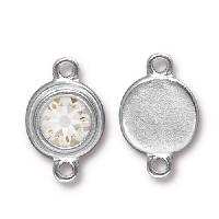 TierraCast Link Stepped Swarovski SS34 CRYSTAL - Silver Plated