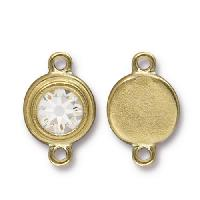 TierraCast Link Stepped Swarovski SS34 CRYSTAL - Antique Gold