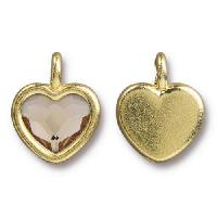 TierraCast Charm Heart LIGHT SILK - Gold Plated