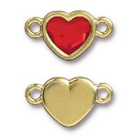 TierraCast Link Heart LIGHT SIAM - Gold Plated