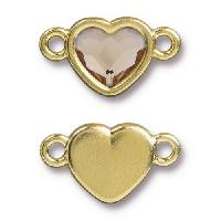 TierraCast Link Heart LIGHT SILK - Gold Plated