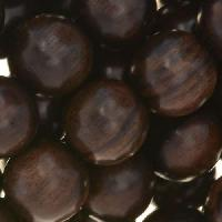 Tiger Ebony Wood Bead Round 15mm