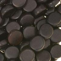 Tiger Ebony Wood Bead Coin 10x5mm