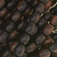 Tiger Ebony Wood Bead Oval 6x8mm - strand