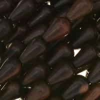 Tiger Ebony Wood Bead Teardrop 8x12mm - strand