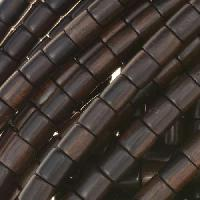 Tiger Ebony Wood Bead Tube 6x6mm