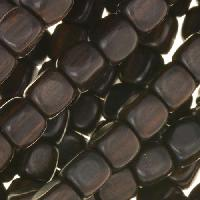 Tiger Ebony Wood Bead Cube 8mm - strand
