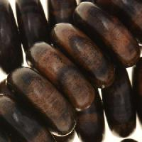 Tiger Ebony Wood Bead Heishi 25x8mm - strand