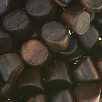 Tiger Ebony Wood Bead Double Side Cut 10mm