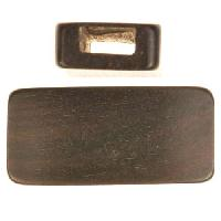 Tiger Ebony Wood Slide Large Hole Rectangle 42x20mm - piece