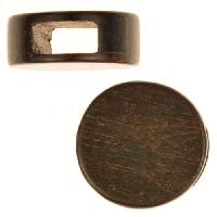 Tiger Ebony Wood Slide Large Hole Round Flat 20mm - piece