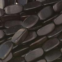 Tiger Ebony Wood Bead 3 Sided Oval 5x12mm - strand