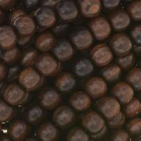 Tiger Ebony Wood Bead Round 6mm