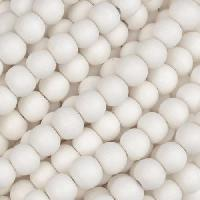 White Wood Bleach Bead Round 6mm