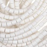 White Wood Bleach Bead Tube 4x4mm
