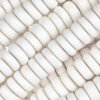 White Wood Bleach Bead Heishi 10x4mm
