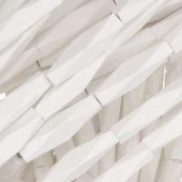 White Wood Bleach Bead Diamond Shape 5x20mm - strand