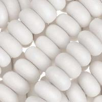 White Wood Bleach Bead Rondelle 12x6mm