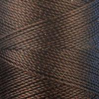 Waxed Jewelry Cord Round - Dark Brown