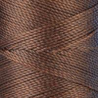 Waxed Jewelry Cord Round - Medium Brown