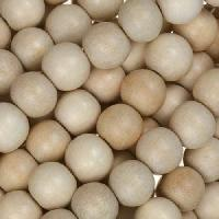 White Wood Natural Bead Round 8mm