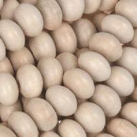 White Wood Natural Bead Rondelle 6x10mm