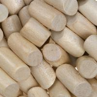 White Wood Natural Bead Tube Side Cut 8x15mm
