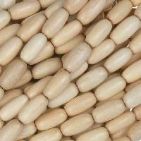 White Wood Natural Bead Rice Beads 5x10mm - strand