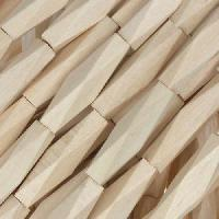 White Wood Natural Bead Diamond Shape 5x20mm