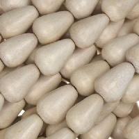 White Wood Natural Bead Teardrop 8x12mm