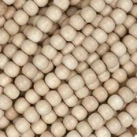White Wood Natural Bead Round 4mm