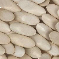 White Wood Natural Bead Side Cut 20x8x4mm
