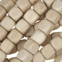 White Wood Natural Bead Cube 8mm