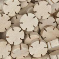 White Wood Natural Bead Flower Shape 12mm