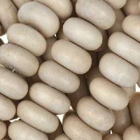 White Wood Natural Bead Rondelle 14x7mm