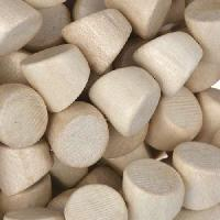 White Wood Natural Bead Double Side Cut 10mm