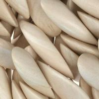 White Wood Natural Bead Petals 12x30mm Top Drill
