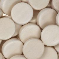 White Wood Natural Bead Coin 15mm