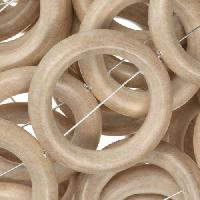 White Wood Natural Bead O-ring 28x5mm - strand