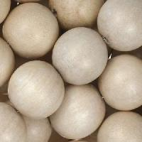 White Wood Natural Bead Round 15mm