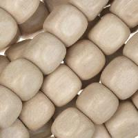 White Wood Natural Bead Cube 10mm