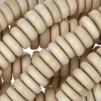 White Wood Natural Bead Heishi 10x4mm