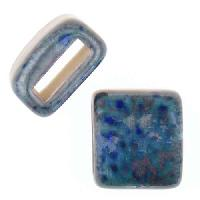 Clay River Porcelain Slider Flat 10mm Large - Marbelous Blue