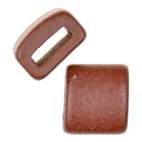 Clay River Porcelain Slider Flat 10mm Large - Matte Cocoa
