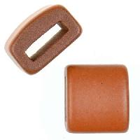 Clay River Porcelain Slider Flat 10mm Large - Matte Terracotta