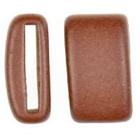 Clay River Porcelain Slider Flat 20mm Large - Matte Cocoa