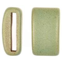 Clay River Porcelain Slider Flat 20mm Large - Patina Green